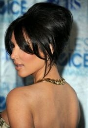 kim kardashian red carpet updo