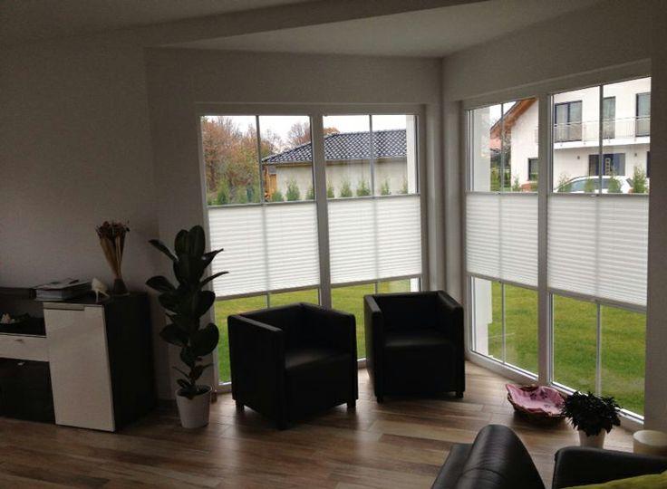 Sichtschutz auch fr groe Fenster  mit sensuna Plissees nach Ma  WOHNZIMMER  Pinterest