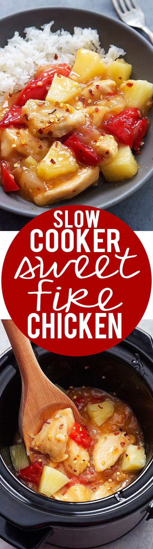 Slow Cooker Sweet Fire Chicken recipe   Creme de la Crumb