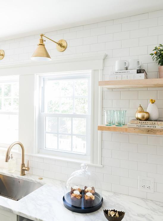 White Kitchen with Delta Trinsic Deck Mount Pull Down