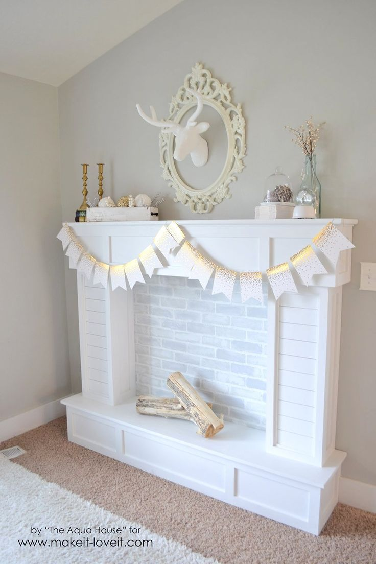 create your own living room set mediterranean style make a faux fireplace with hearth...that looks absolutely ...