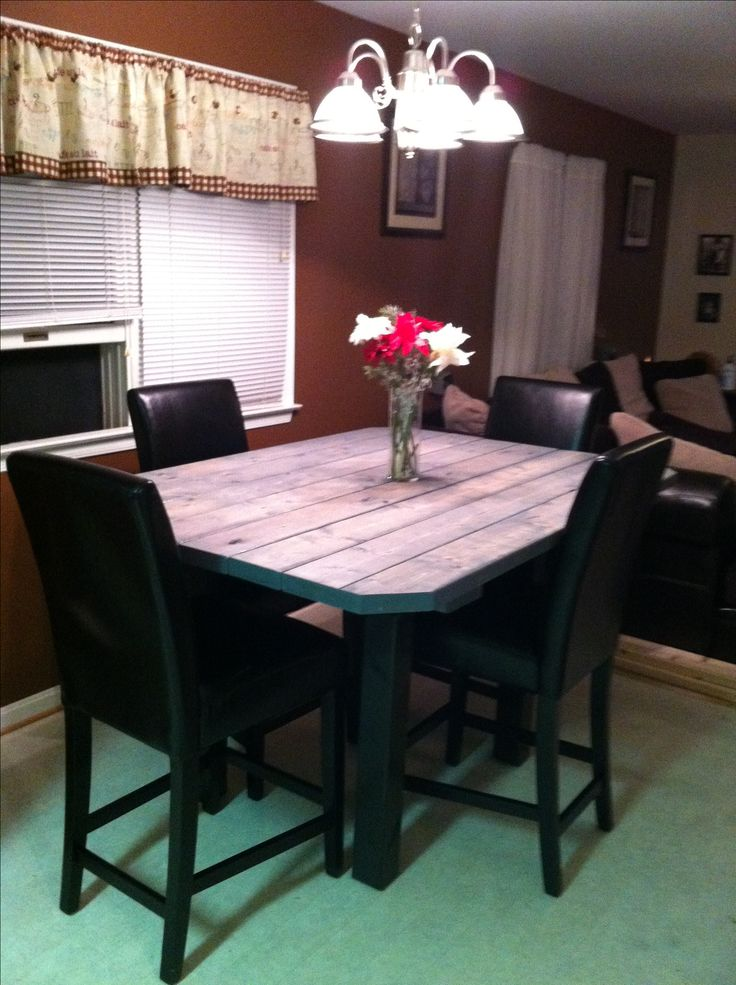 Homemade High top table using 2x4s  For the Home  Pinterest  High tops Tops and Homemade