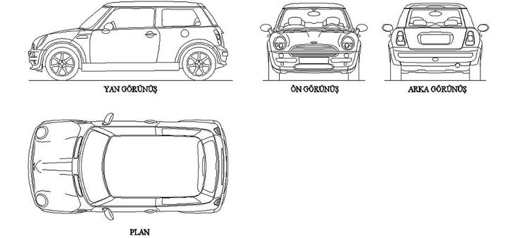 Dwg Adı : Mini cooper autocad çizimi İndirme Linki : http
