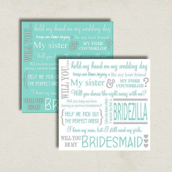 Will You Be My Bridesmaid Proposal Card Tiffany Blue By
