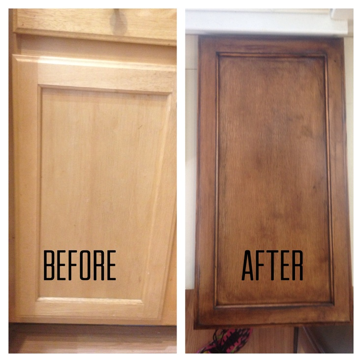 Beautiful Refinishing Kitchen Cabinets Before And After