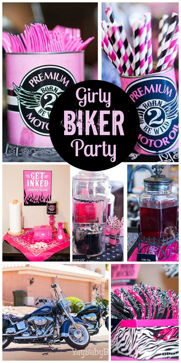 Biker Chic  Birthday Born 2 Be Wild Jaxs 2nd Birthday