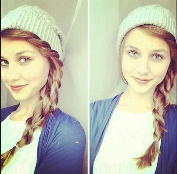 25 Best Ideas About Beanie Hairstyles On Pinterest Amazing