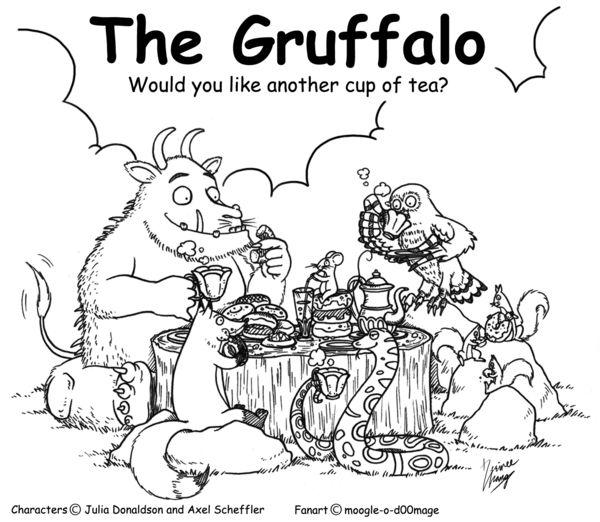 Kleurplaat Gruffalo