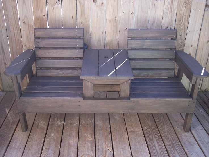 Two Seat Bench With Center Table Georgia Outdoor News