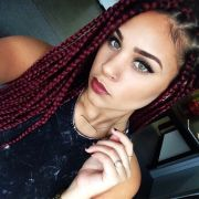 women with braid extensions