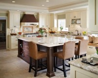 Extending kitchen island to a dining table