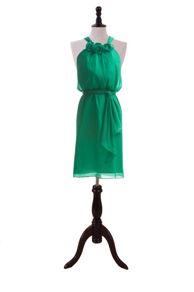 Mother of Groom … Fashionable Halter Blouson Chiffon Dress