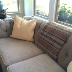 Pottery Barn Living Room Sofas Brown Paint Pictures Classic • Casual Home: A Dog (or Kid) Friendly Family ...