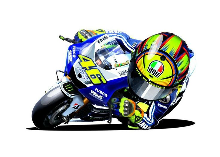Rossi 46 M1 2013 cartoon  motogp 46  Pinterest  Cartoon