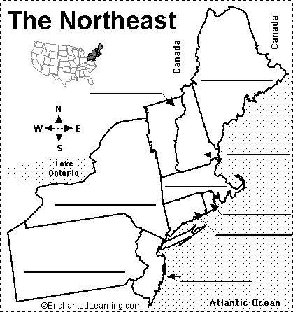 Blank Map Of The United States Enchanted Learning