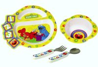 Sesame Street Dinnerware Elmo Cookie Monster Plate Bowl