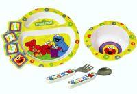 Sesame Street Dinnerware Elmo Cookie Monster Plate Bowl ...