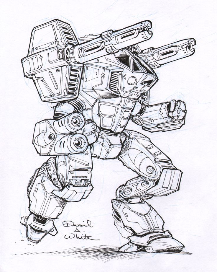 Legacy mech sketch by Mecha-Master.deviantart.com on