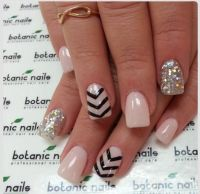 Cute nails : mixed : diamonds   Nail art    Pinterest ...