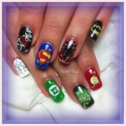 superhero nail art vanna nails