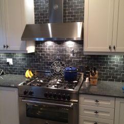 Black Subway Tile Kitchen Kitchenaid Appliances 36