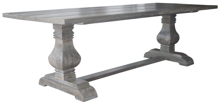 Grey Wash Pedestal Dining 990 Pedestal Dining Table