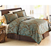 17 Best images about Brown and Teal Bedding on Pinterest
