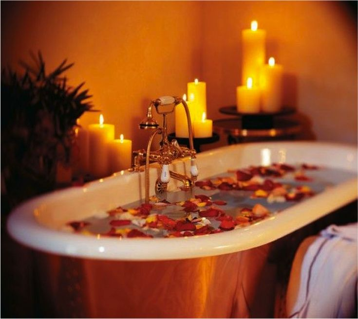A Relaxing Candle Lit Bubble Bath Will Make For A Great