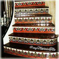 Mexican Tile - kitchen backsplash, bathroom & stairs