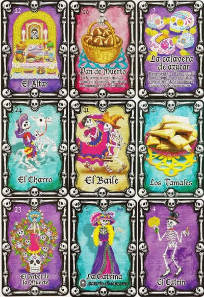 LOTERIA DE MUERTOS DAY OF THE DEAD THEMED MEXICAN