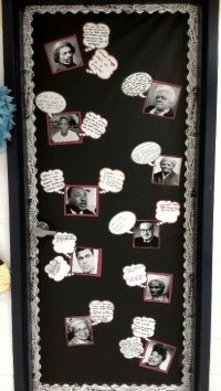 Black History Month classroom door bulletin board idea ...