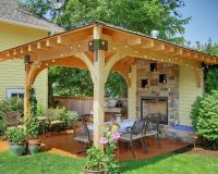 covered patio ideas | This covered patio would fit in a ...