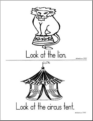 Early readers, Circus theme and Worksheets on Pinterest