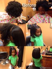 blowout and silk pressed natural
