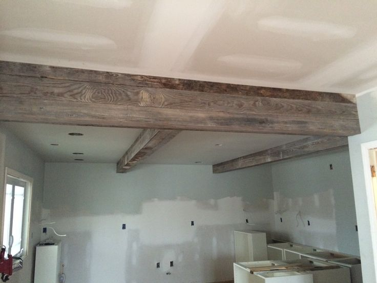 Wrapped Our Support Beams In The New Kitchen With 80 Yr