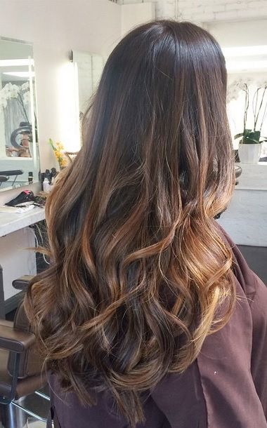 Long Layers And Brunette Highlights Hair Color