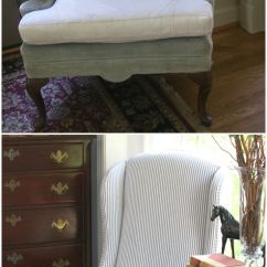 Custom Made Fabric Sofa Singapore Chocolate Sectional Updated Vintage Ethan Allen Wingback Chairs With Lovely ...