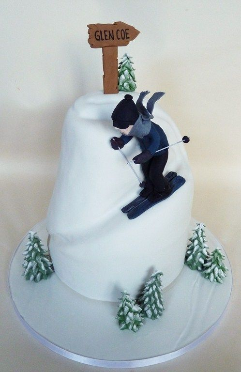 41 Best Images About Ski Cakes On Pinterest Downhill Ski