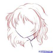 cartoon girl with curly hair
