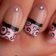 pink swirl nail design nails