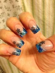 holiday acrylic nails winter