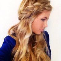 Braided crown down do