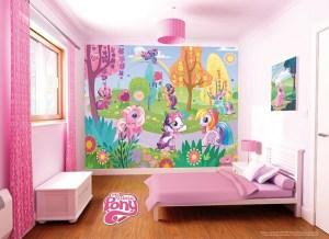 bedroom pony wall mlp decor murals decoration