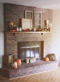Red Brick Fireplaces Pinterest'te hakknda 25'den fazla en ...