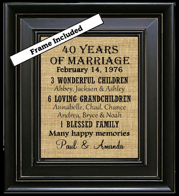 25 best ideas about 40th Anniversary Gifts on Pinterest  40th anniversary parties 40th