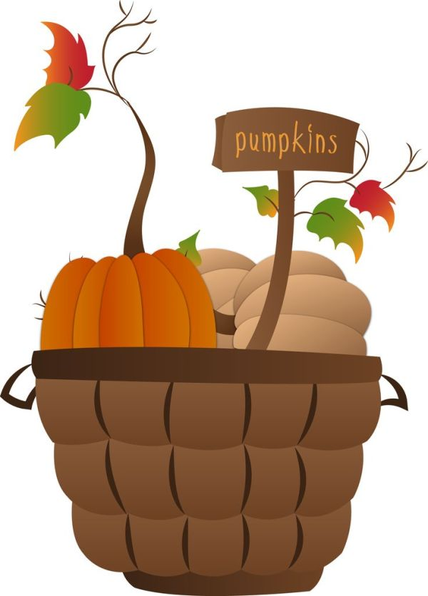 pumpkin basket autumn graphics