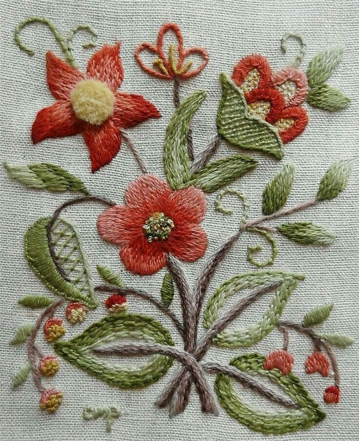 1000 images about JACOBEAN CREWEL EMBROIDERY on