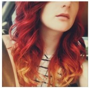 red strawberry blonde ombre