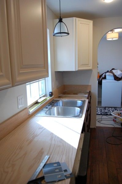 Plywood Countertop Finish Plywood, Plywood Kitchen And Kitchen Sink Window On Pinterest