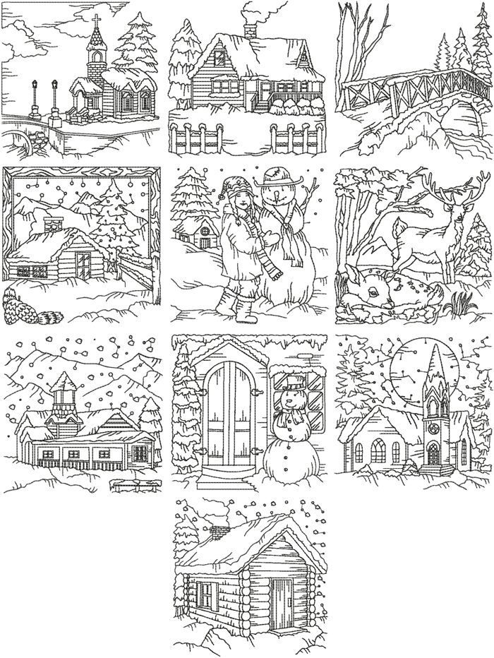 Pencil Of The Nativity Scene Coloring Pages
